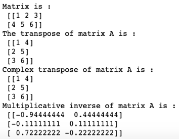Matrix in Numpy-2.3