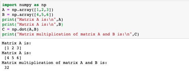 Matrix multiplication in numpy2