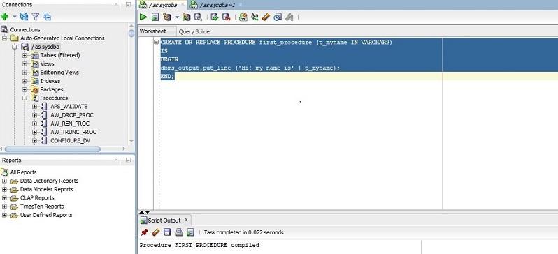 Oracle Procedures 1-1