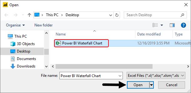 Power BI Waterfall Chart Example 1-5