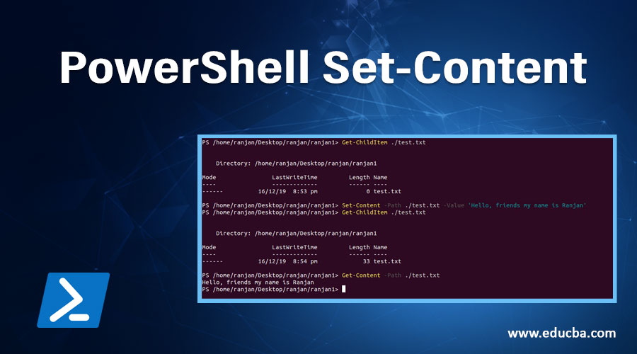 PowerShell Set-Content