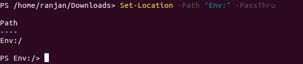 PowerShell Set-Location 1-5