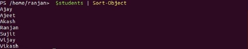PowerShell Sort-Object 1-2
