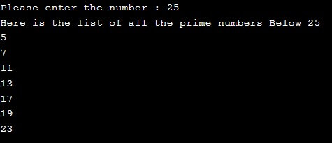 Prime Number in C++