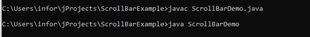 ScrollBar in Java 1-1