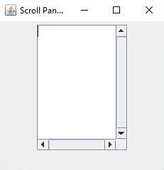 ScrollBar in Java 1-4