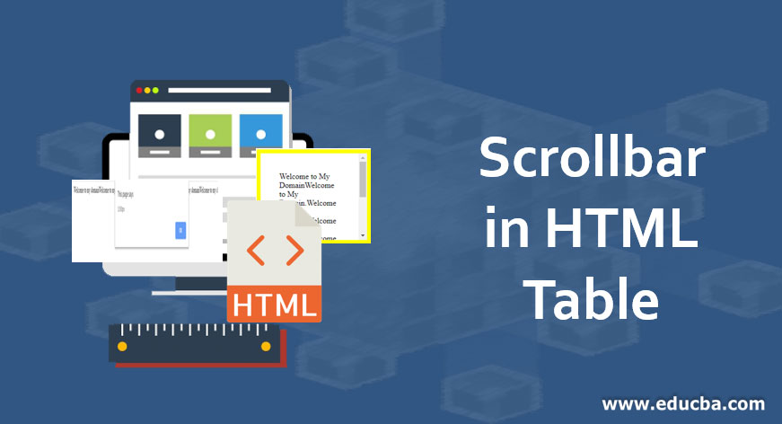 Scrollbar in HTML Table