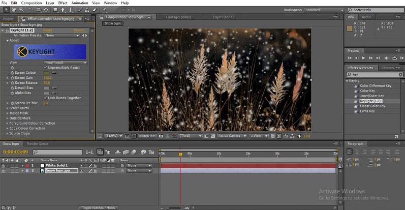 Snowfall in After Effects 1-26