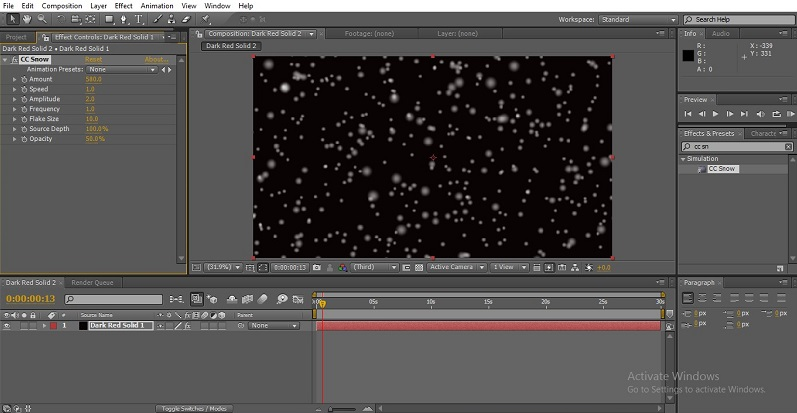 Snowfall in After Effects 1-35