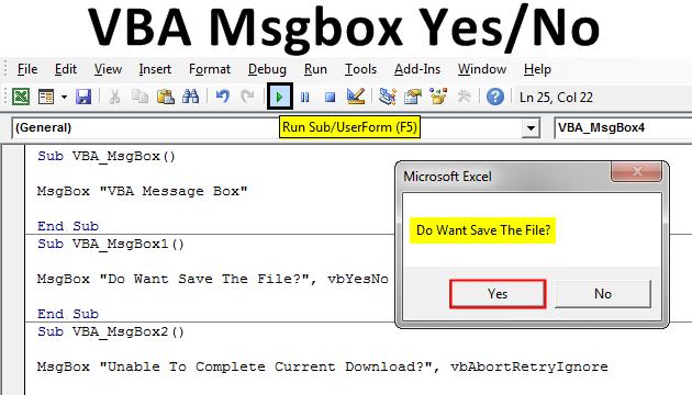 VBA Msgbox Yes No Example