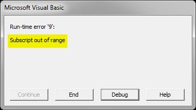 Error Message Example 2-3