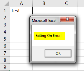VBA On Error Goto Example 2-7