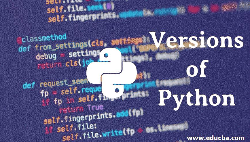 Versions ofPython