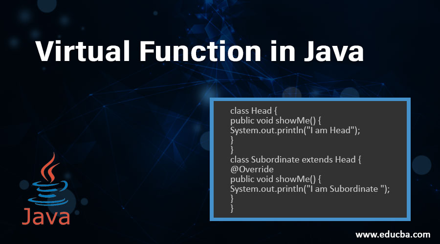 Virtual Function in Java
