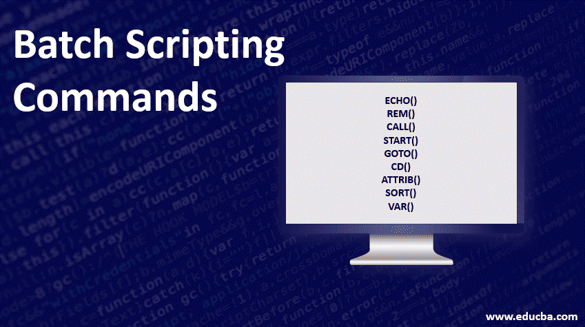 batch scripting commands