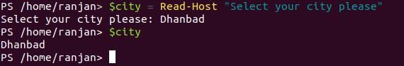 Read-Host