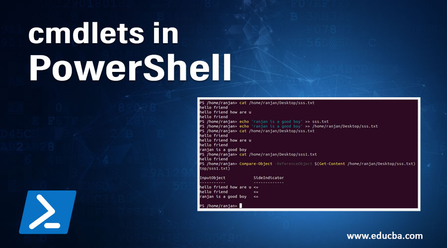 cmdlets in PowerShell
