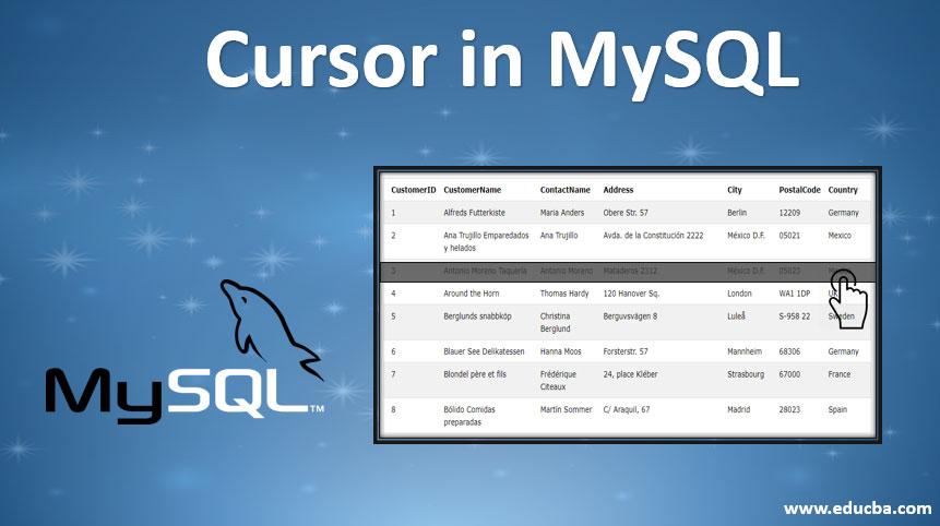 cursor in mysql