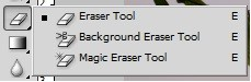 different erase tools