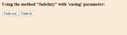 easing