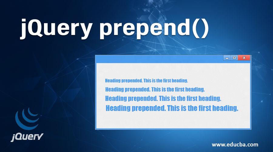 jQuery prepend()