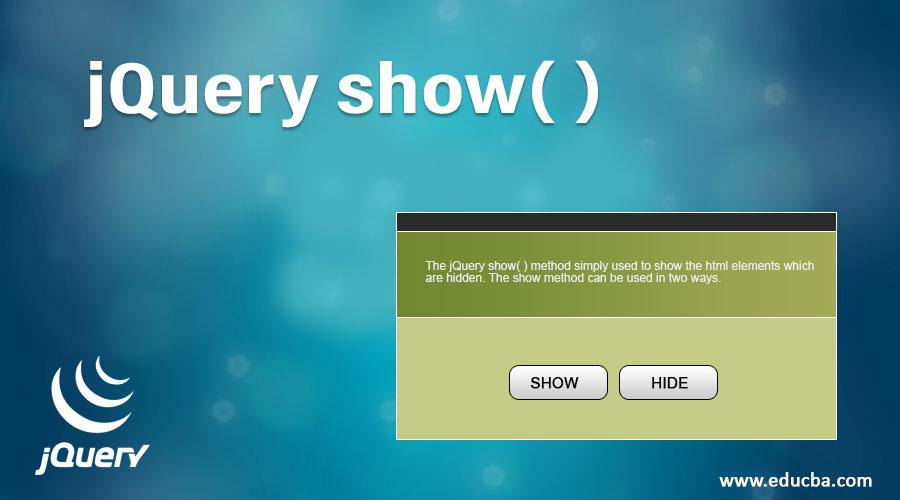 jQuery show( )