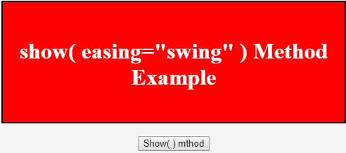 easing method output