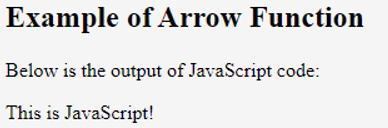 javascript arrow