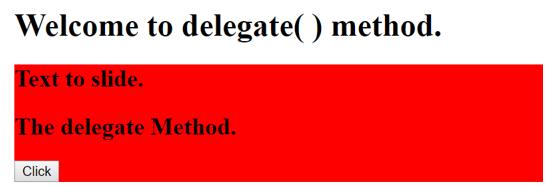 delegate method