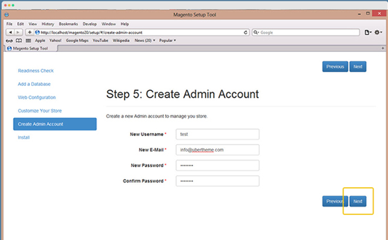 create admin ac