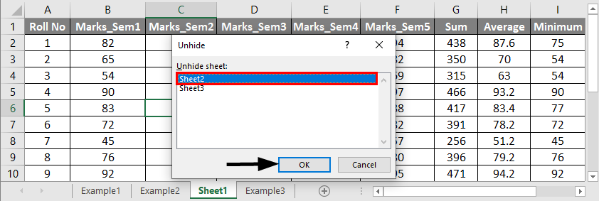 How to Unhide All Sheets in Excel 2-3
