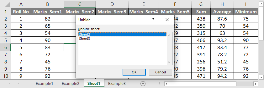 How to Unhide All Sheets in Excel 2-2