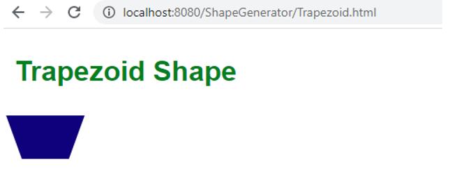 Trapezoid shape