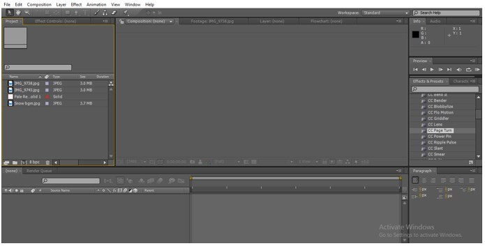 Composition in After Effects - 1