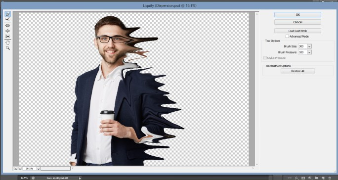 Dispersion Effect in Photoshop 1-12