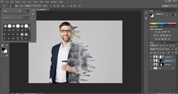 Dispersion Effect in Photoshop 1-14