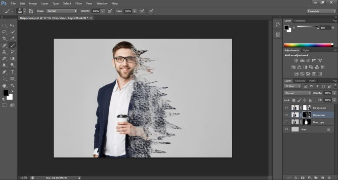 Dispersion Effect in Photoshop 1-15
