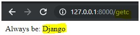 alwqays be django