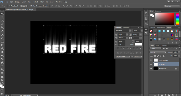 Fire Effect in Photoshop -16