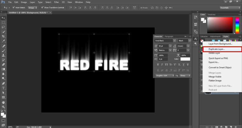 Fire Effect in Photoshop -17