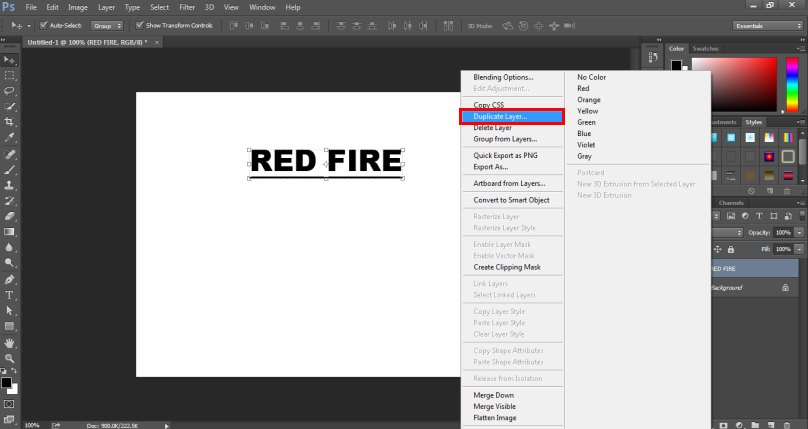 Fire Effect in Photoshop -7