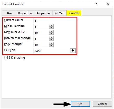 Format Control -Scroll