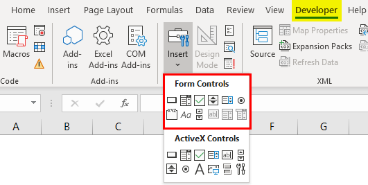 Forms Control in excel 1-1