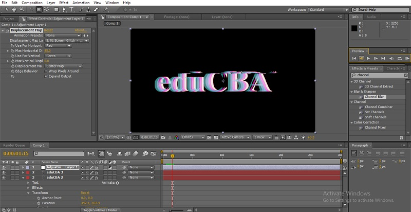 Glitch Effect in After Effects 19