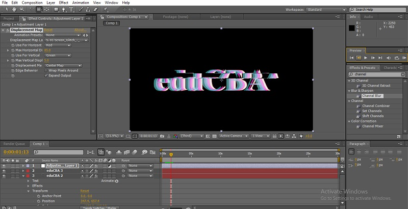 Glitch Effect in After Effects 20