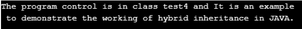 Hybrid Inheritance in Java output