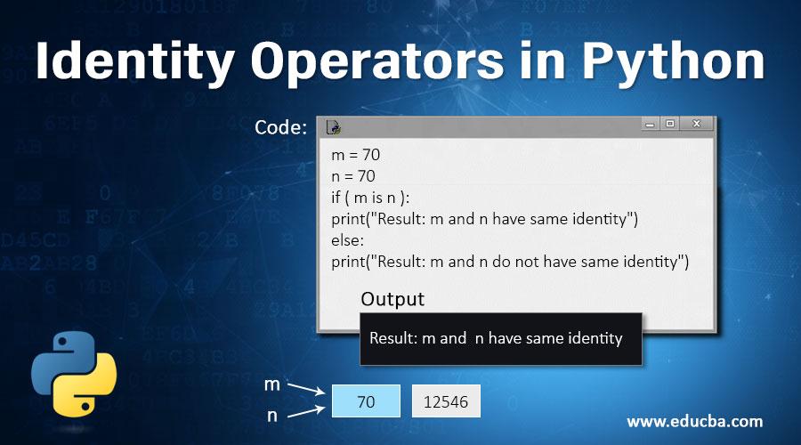 Identity Operators in Python