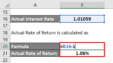 Actual Rate of Return -1.4