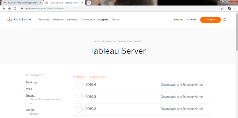 Install Tableau Server - 2