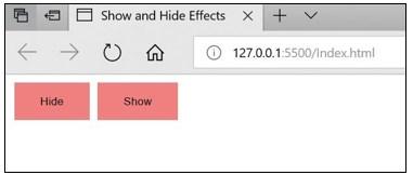 JQuery Hide Show-1.5